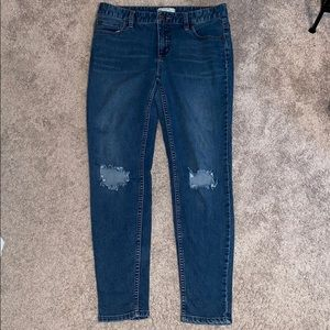 Free People size 28 blue jeans denim ripped